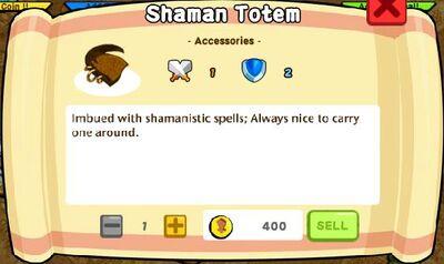 Shaman Totem Text