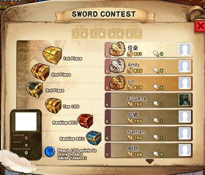 Sword Contest Ranking