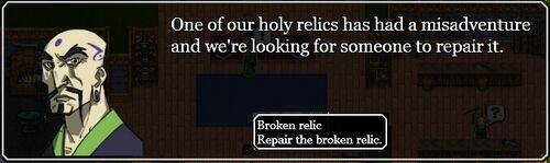 Invitation to Broken relic quest