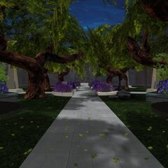 Anzat Spaceport Gardens entrance