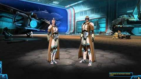 Miraluka Jedi Knight character creation - SWTOR TOR Star Wars The Old Republic