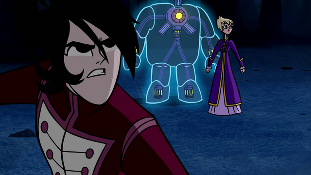File:Lance, Ilana and Octus getting ready for a fight in Escape to Sherman High.png