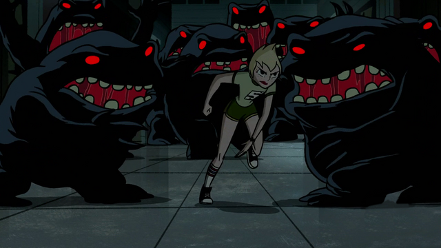 File:Ilana running from Blob Monster in Showdown at Sherman High.png