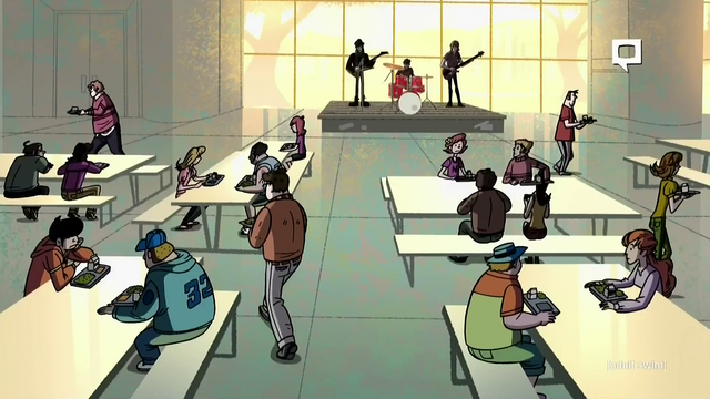 File:Disenfranchised (Band) at the Sherman High School Cafeteria in Disenfranchised.png