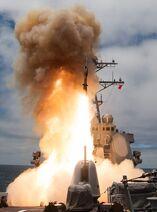 665px-USS John Paul Jones (DDG-53) launches RIM-174 in June 2014