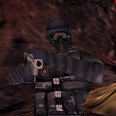 Elite using a Shotgun