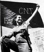 Woman with cntfai flag