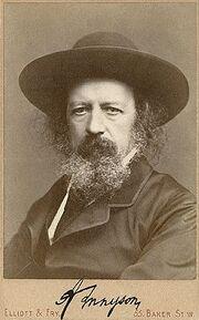 Alfred Lord Tennyson, autographed portrait by Elliott & Fry