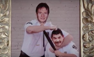 Liam Neeson in the Taken 4 Jimmy Kimmel spoof with Guillermo