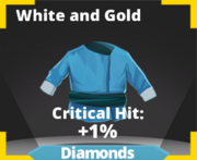 White and Gold Icon