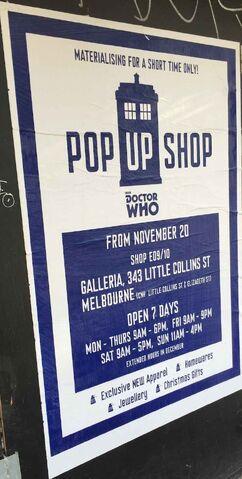 File:Doctor Who Pop Up Shop Melbourne poster 2014.jpg