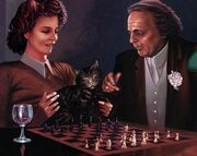 John Smith and Joan Redfern play chess