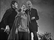 Doctor Vicki Steven stood on cliff top Time Meddler