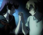 Teiichi yuuko hold hands