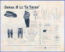 Samoa tattoo chart