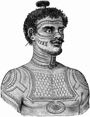 Tattoo history pic of tribal man