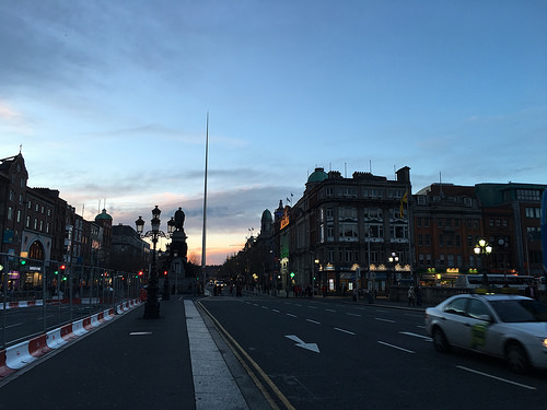 File:Sunset O'Connell Street Dublin.jpg
