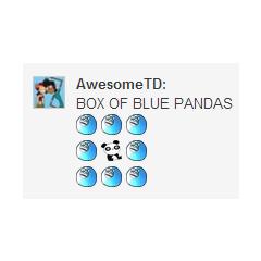 Box of Blue Pandas