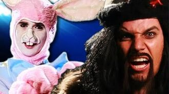 Genghis Khan vs Easter Bunny. Epic Rap Battles of History 8-0