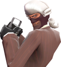 Spy with the Magistrate's Mullet TF2