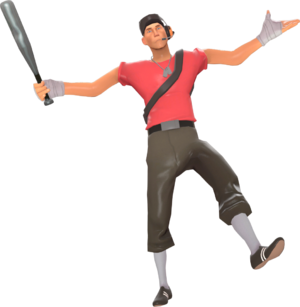 Scout taunting with the Bat TF2