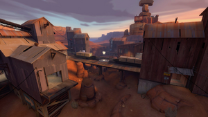 Badlands overlooking a control point TF2