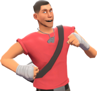Scout with the Baseball Bill's Sports Shine TF2