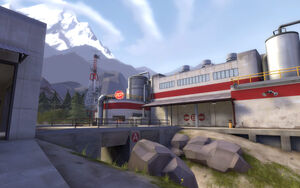 Gorge outside RED base TF2