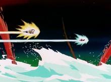 Goku chases after Freeza