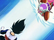 Freeza engages Vegeta
