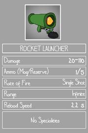 Stats rocketlauncher