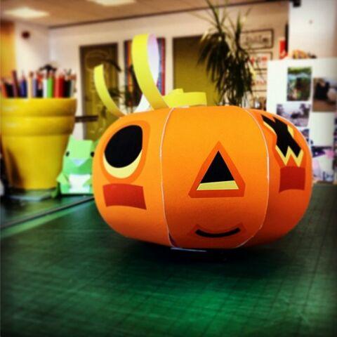 A special pumpkin papercraft plan