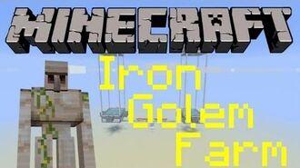 Small & relatively easy iron golem farm 1.8