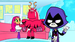 Raven frustrated with Starfire and Trigon's bond