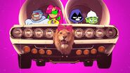 Raven & Starfire in their girl car