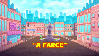 A farce transcript teen titans go wiki fandom powered for Farcical plot