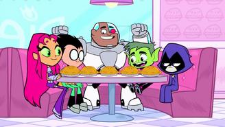 The titans in pie shop