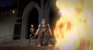 Tiger Claw And Karai Stare At The Fire