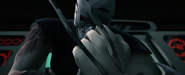Claws Bursting Through Shredder's Hand