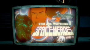 Space Heroes title card