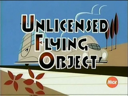 Unlicensed flying object title card