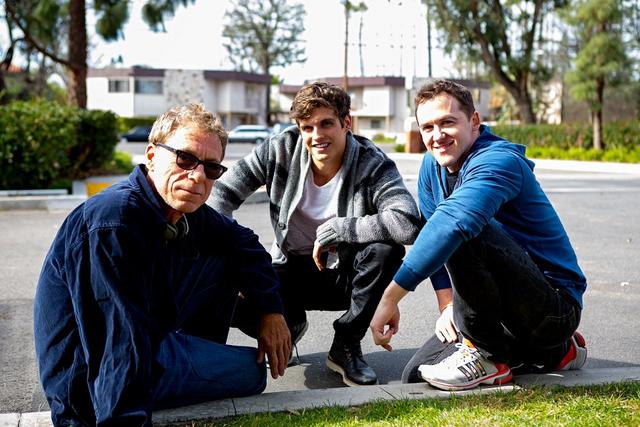 File:Teen Wolf Season 3 Behind the Scenes Russel Mulcahy Daniel Sharman Jeff Davis.png