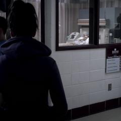 Visiting Lydia at the hospital