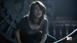 Teen Wolf Season 3 Episode 2 Crystal Reed Allison Argent Bank Vault Door