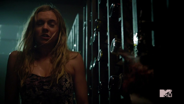 File:Teen Wolf Season 3 Episode 2 Caitlin Custer Heather Wine Bottle Breaks .png