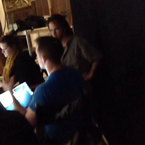 File:Teen Wolf Season 3 Behind the Scenes Jeff Davis looking at Dailes.png