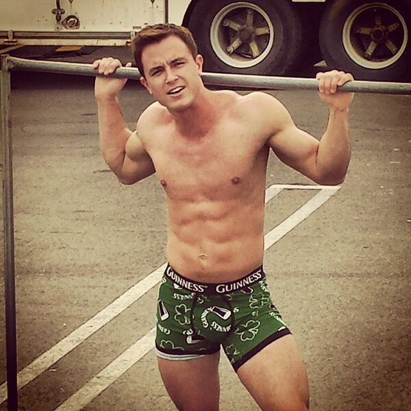 Teen Wolf Season 5 Behind the Scenes Ryan Kelley Boxer Briefs 031715