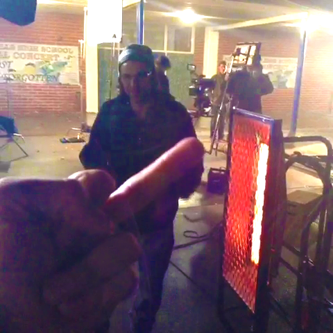 File:Teen Wolf Season 3 Behind the Scenes Tyler Posey middle finger Night Heater.png