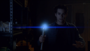 Teen Wolf Season 3 Episode 19 Letharia Vulpina Stiles with Ultrasonic emitter