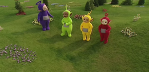 Teletubbies stretching dance